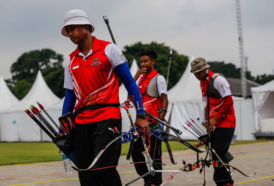 final nomor Recurve Men's Team Indonesia