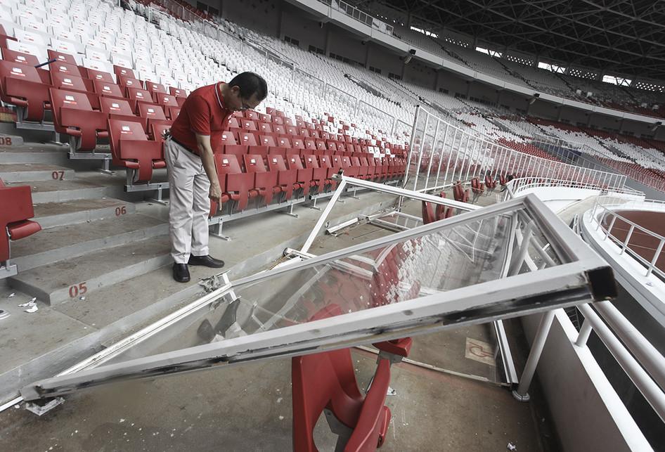Kerusakan di SUGBK Usai Final Piala Presiden