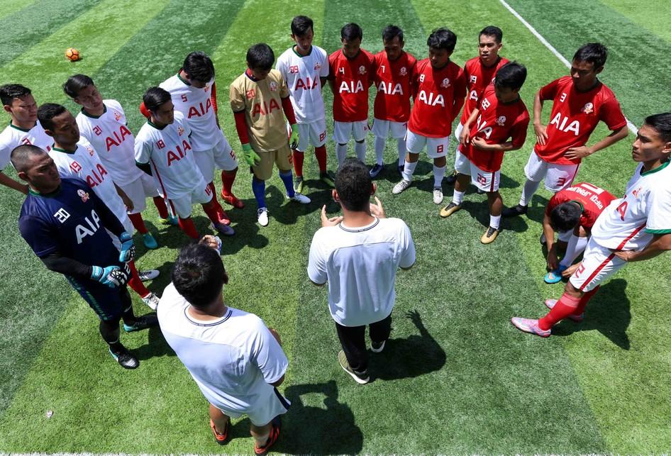 Latihan Tim AIA Indonesia Sebelum Bertanding di Hongkong