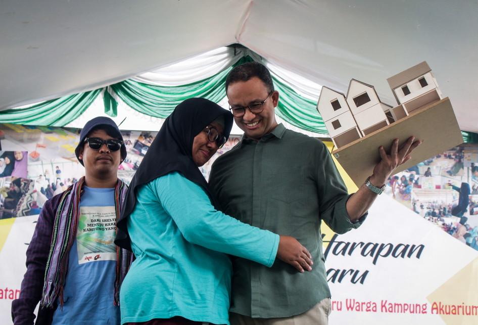 Gubernur DKI Jakarta Menghadiri Peringatan Penggusuran Kampung
