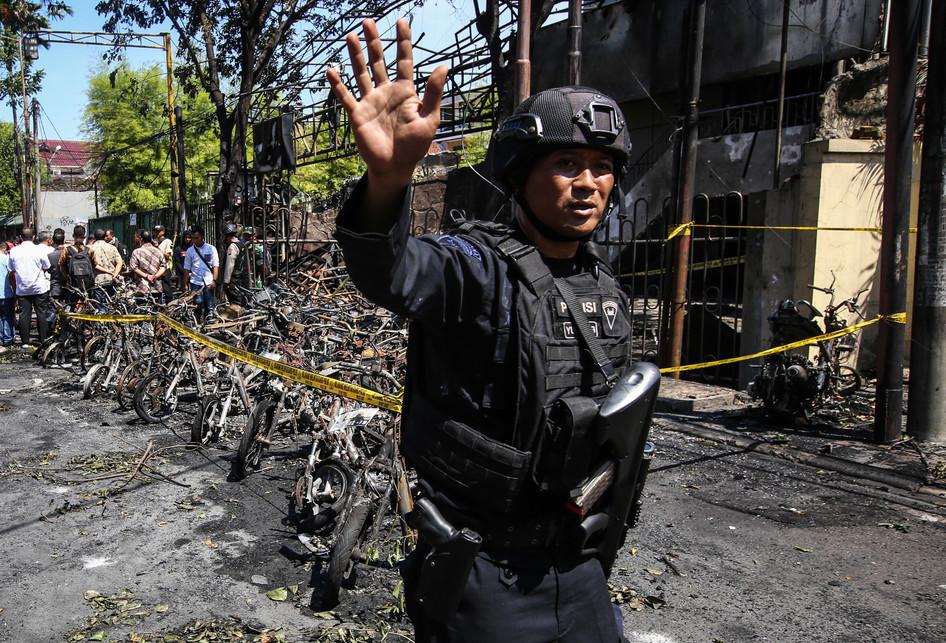 ledakan bom di Gereja Pantekosta Pusat Surabaya (GPPS) di Jalan