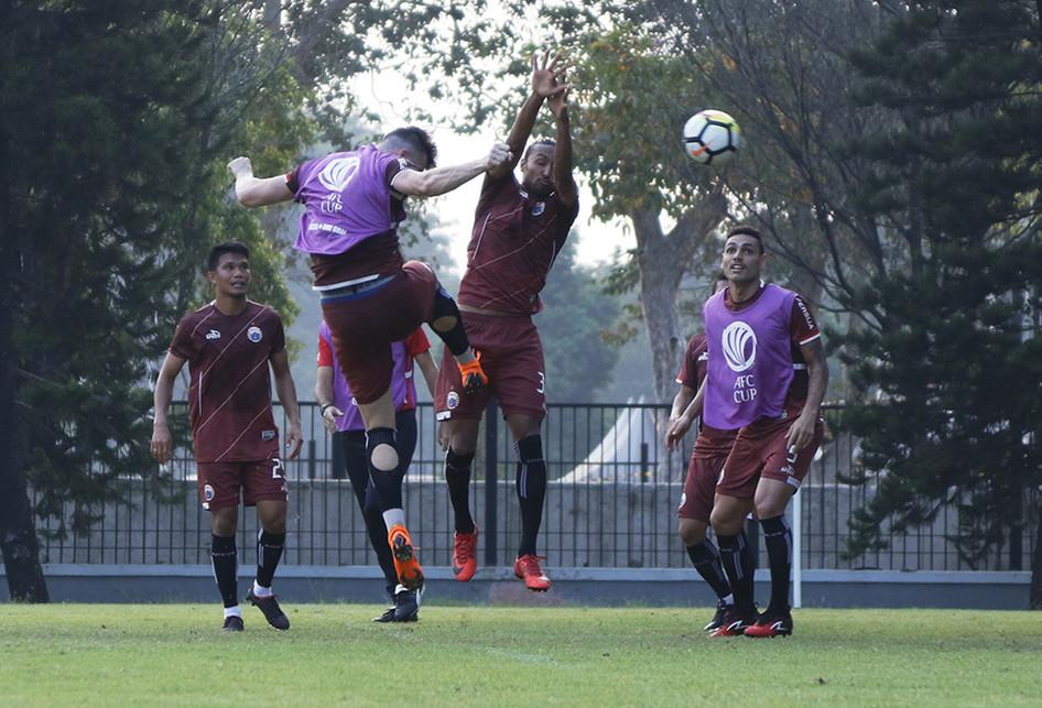 Persiapan Persija Jakarta Menghadapi Home United pada Leg Kedua