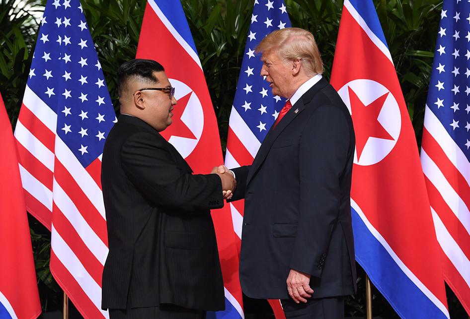 Pertemuan Bersejarah Trump dan Kim Jong Un