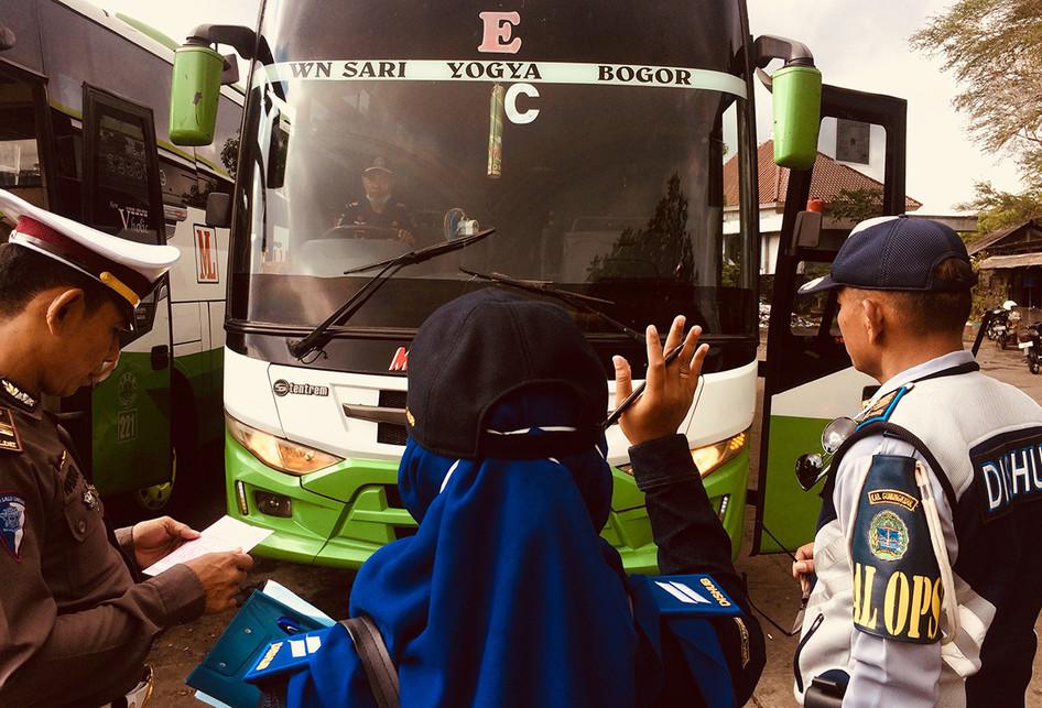 Pemeriksaan Kesiapan Bus Mudik Lebaran 2018