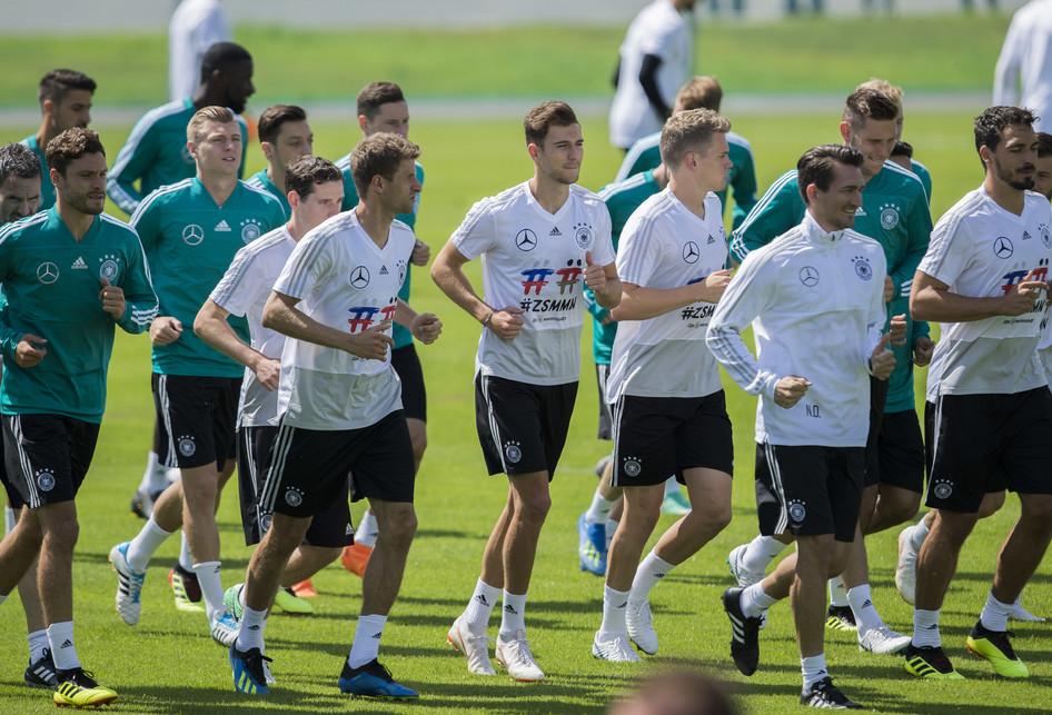 Latihan Timnas Jerman di Piala Dunia 2018