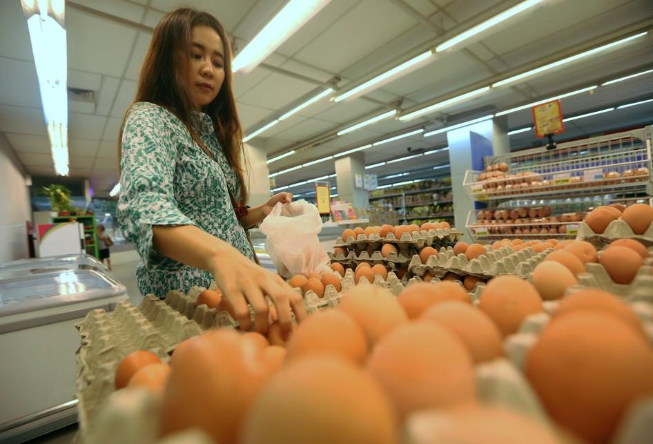 Harga Telur Meningkat di Tangerang