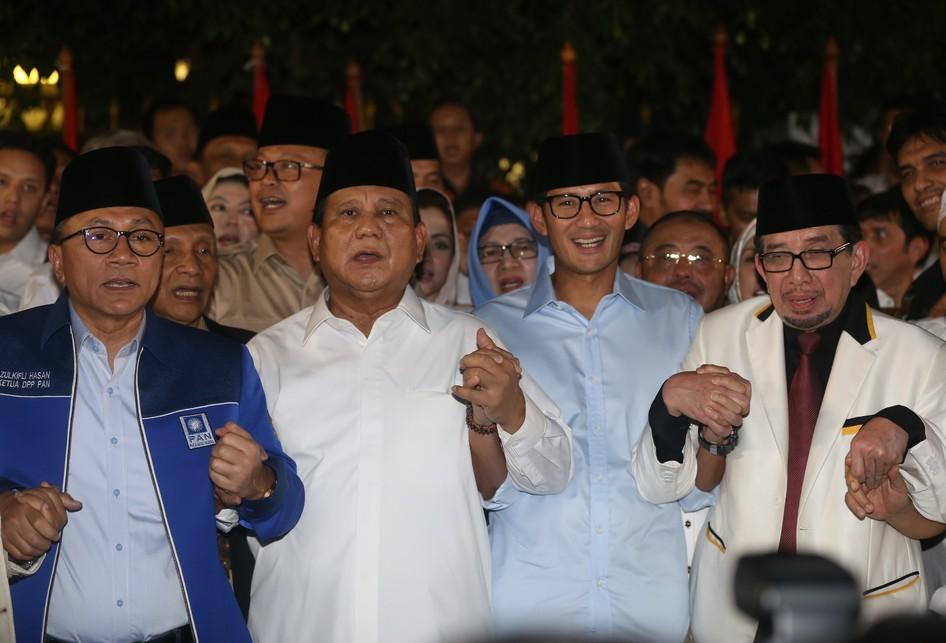 Deklarasi Capres dan Cawapres Prabowo dan Sandiaga Uno