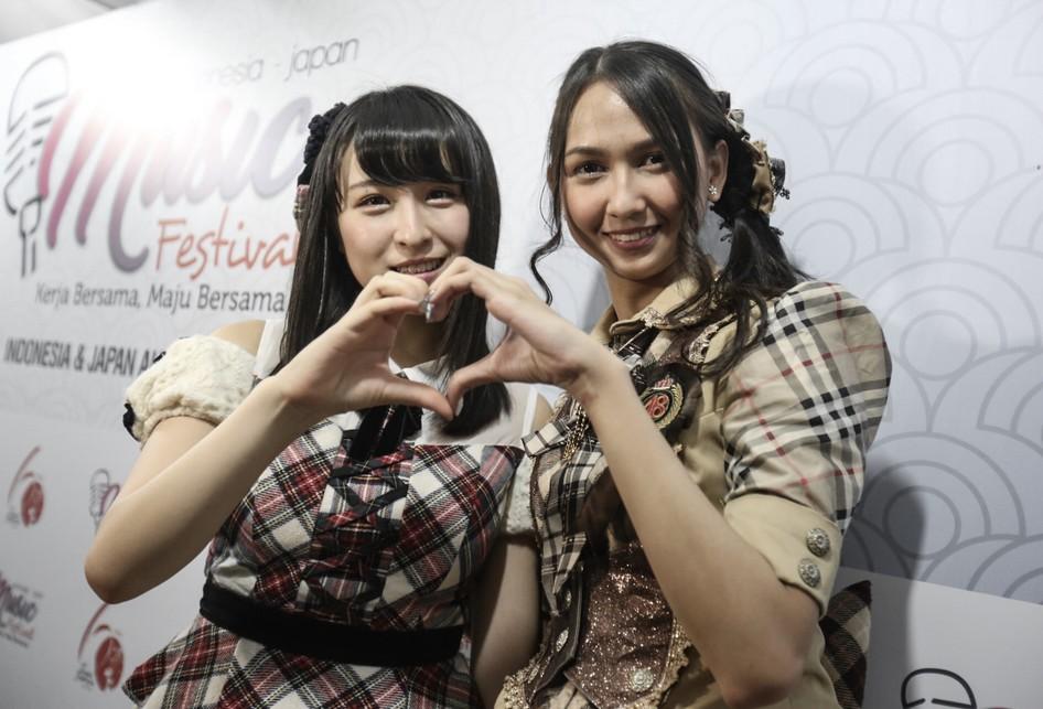 Pertukaran Pelajar Dari JKT48 dan AKB48 di Jak Japan Matsuri, Senayan