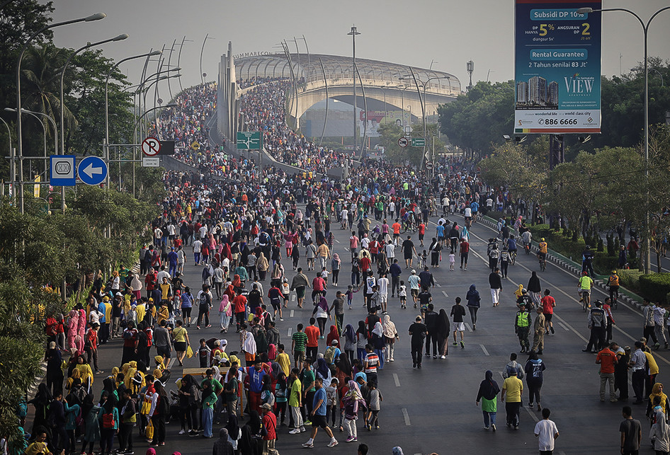 Merayakan Hari Bebas Kendaraan di Bekasi
