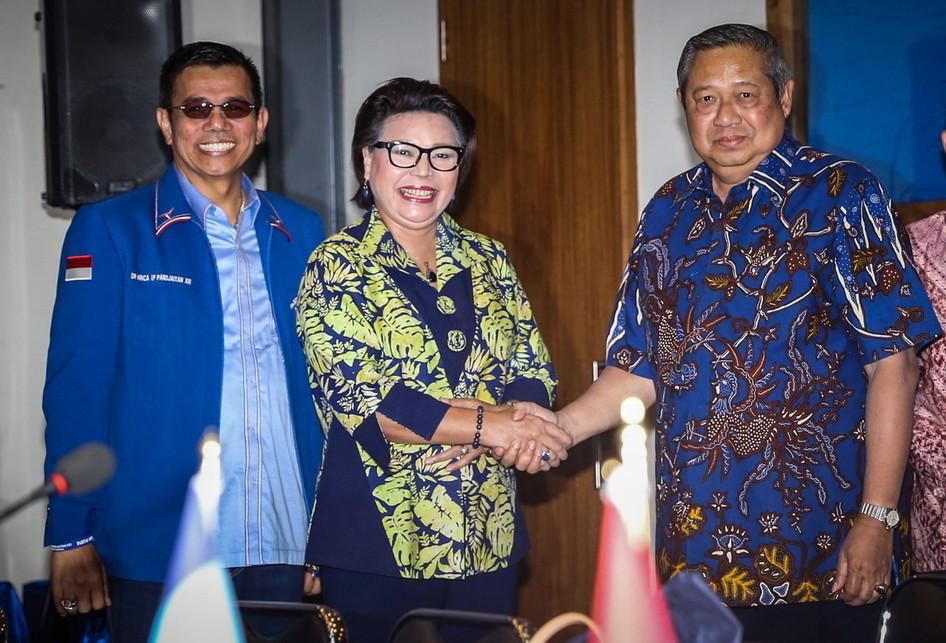 Pertemuan Pimpinan KPK di DPP Partai Demokrat