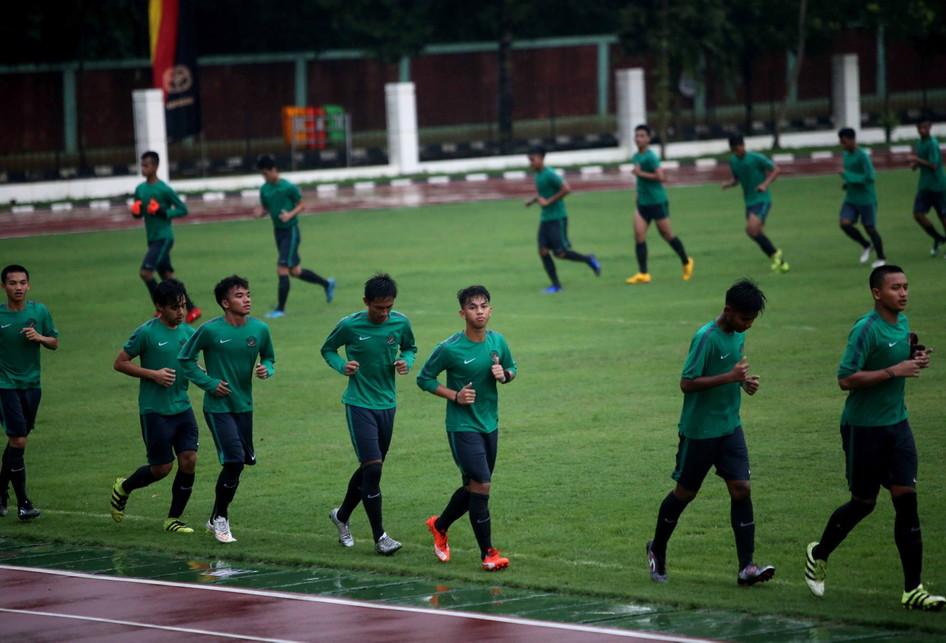 Latihan Tim Nasional (Timnas) U-18 Indonesia