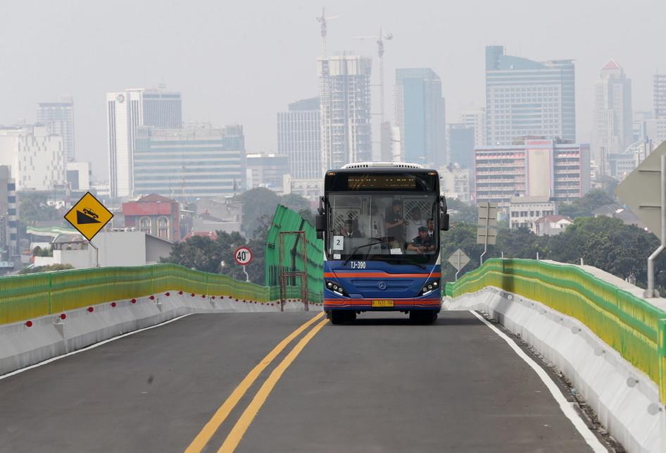 Uji Coba Transjakarta Koridor 13