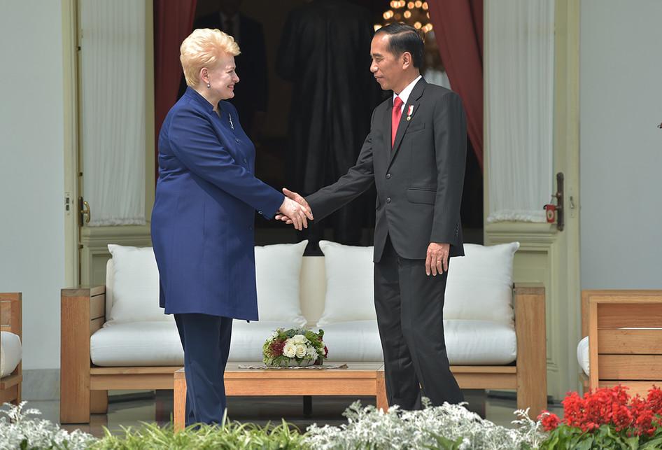 Jokowi Sambut Presiden Lithuania