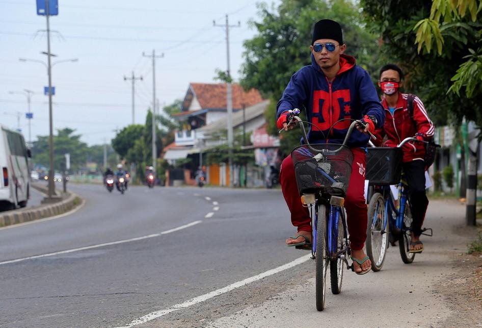 Pemudik Santri Menggunakan Sepeda Mudik 2017