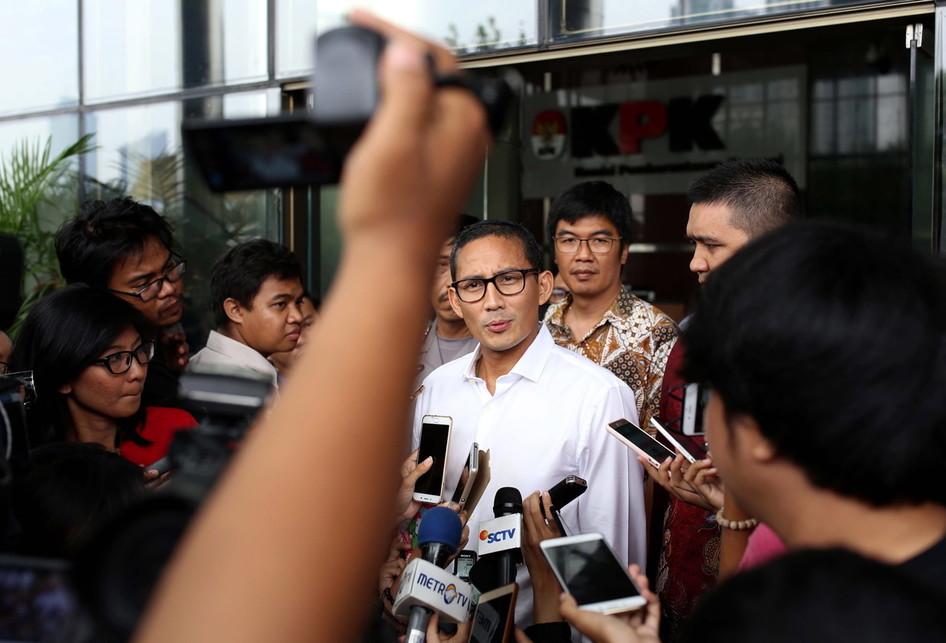 Sandiaga Uno Komisi Pemberantasan Korupsi (KPK)